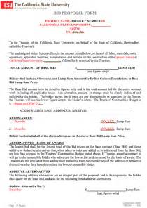 bid document template the bid template 3 can help you make a