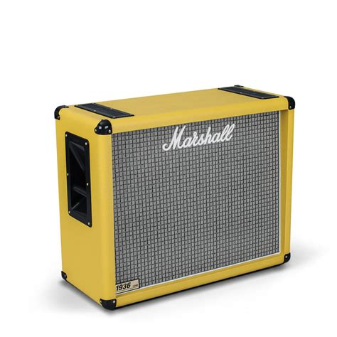 marshall 1936 2x12 cabinet marshall 1936 2x12 quot guitar speaker cab yellow at