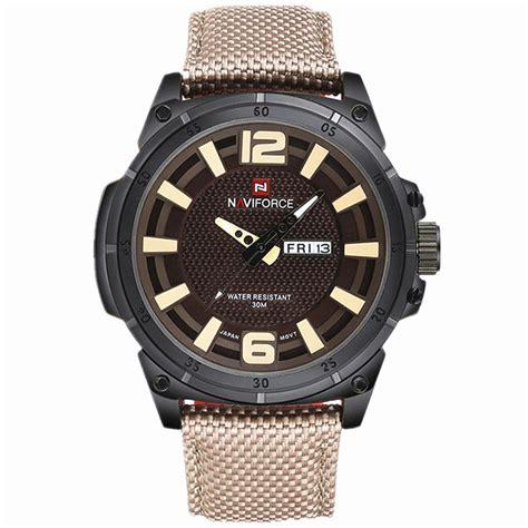 Jam Tangan Navi Brown navi jam tangan analog pria 9066 brown