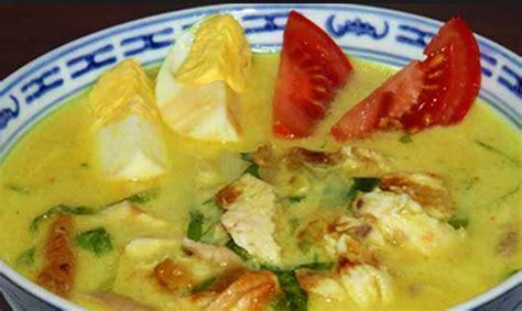 resep  membuat soto ayam santan klasik lezat resep