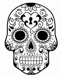 Sugar Skull Coloring Page  AZ Pages sketch template