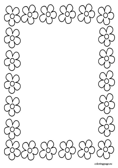 coloring page borders mothers day border 2 gyerekeknek pinterest craft