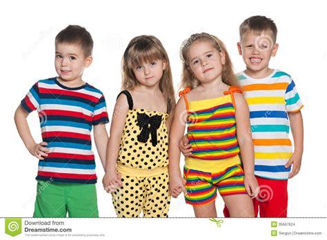 children s joyful four children stock images image 35667624