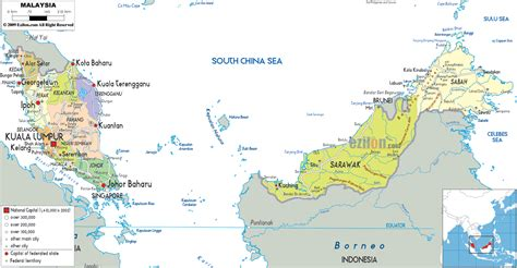 map of malaysia detailed clear large map of malaysia ezilon maps