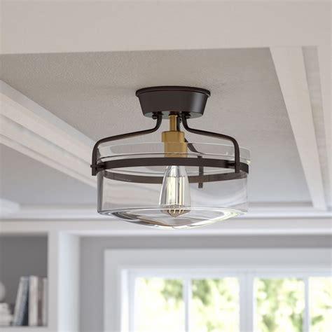 marvelous types of light fixture close to ceiling light alcott hill rhinebeck 1 light semi flush mount reviews