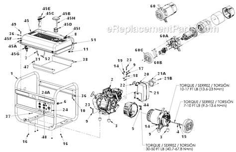 coleman powermate 5000 parts diagram powermate pm0435005 parts list and diagram