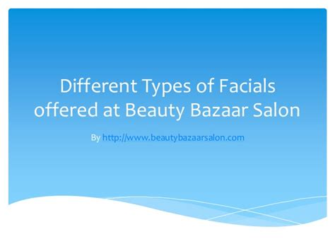 Different Types Of Hair Salons by Different Types Of For Skin Rejuvenation
