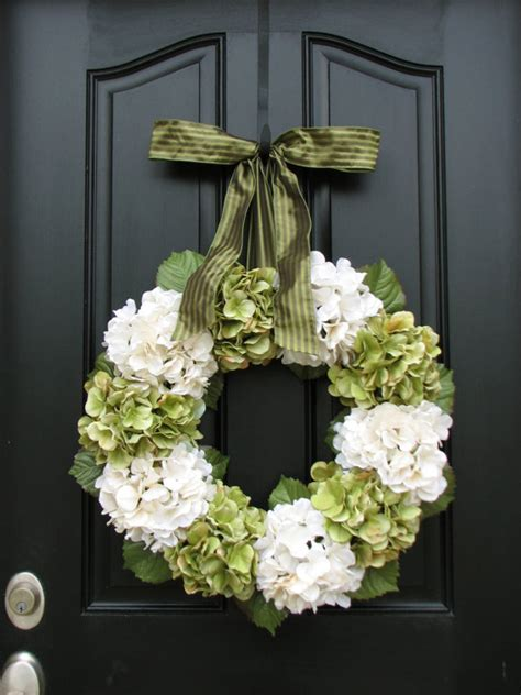 home and living wreaths hydrangea wreath