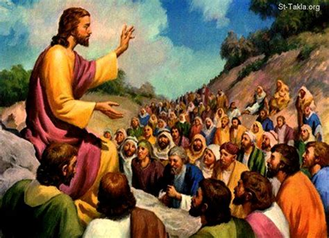 image jesus preaching the sermon on the mountain