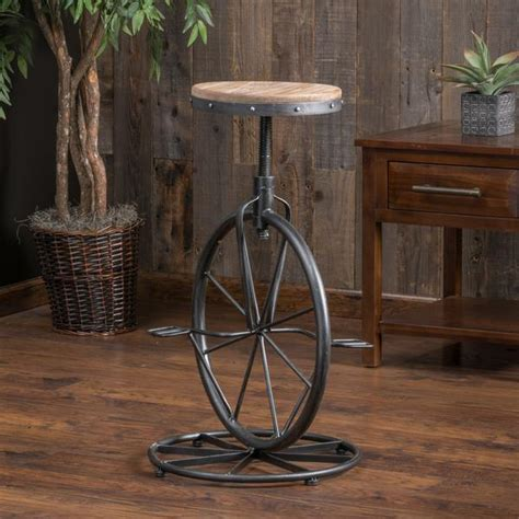 Bicycle Wheel Bar Stool by Charles Bicycle Wheel Adjustable Bar Stool Gdf Studio