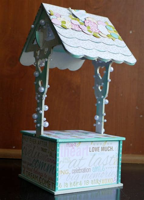 Wishing Well Gift Card Holder - wishing well gift card or money holder for bridal shower or wedding d