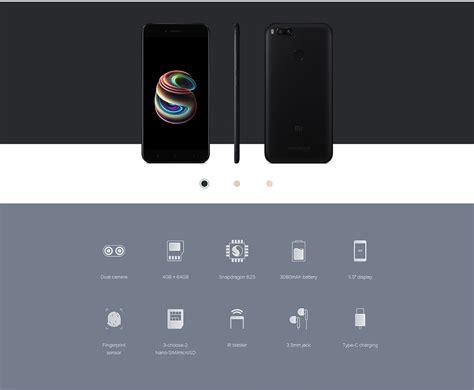 Xiaomi Mi A1 Ram 4gb 64gb Black Garansi Resmi xiaomi mi a1 64gb rom 4gb ram phablet global black