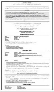 Resume Format For Freshers Bank Job Resume Format For Freshers Mba Finance