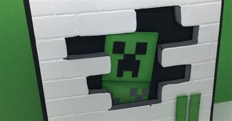minecraft creeper pop up card template minecraft creeper birthday card carolynbennie carolyn