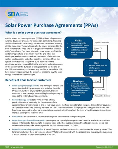 solar power purchase agreement template power purchase agreement for excel pdf and word