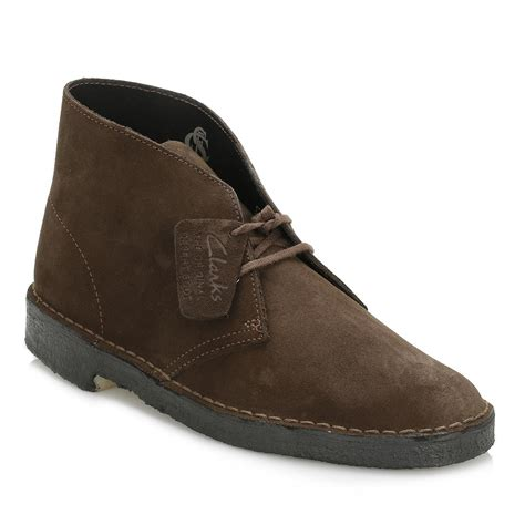 Shoes Clarks Boots Brown lyst clarks mens brown desert suede boots in brown for