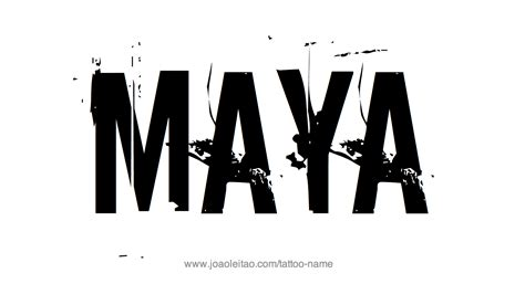 maya name tattoo designs