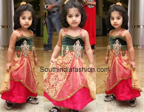 kids lehengas fashion trends south india fashion kids long anarkalis cute girl baby images pinterest