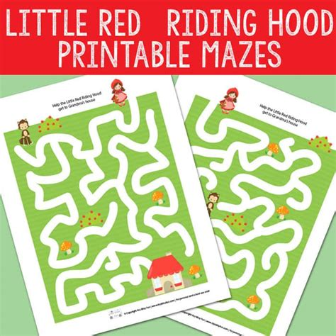 printable version of little red riding hood little red riding hood mazes itsy bitsy fun