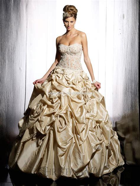 Wedding Dress Gold by Top Ten Wedding Dress Style In 2013 Gold Wedding