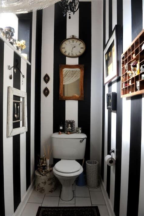 stripped bathroom glamorous black and white bathroom ideas decozilla
