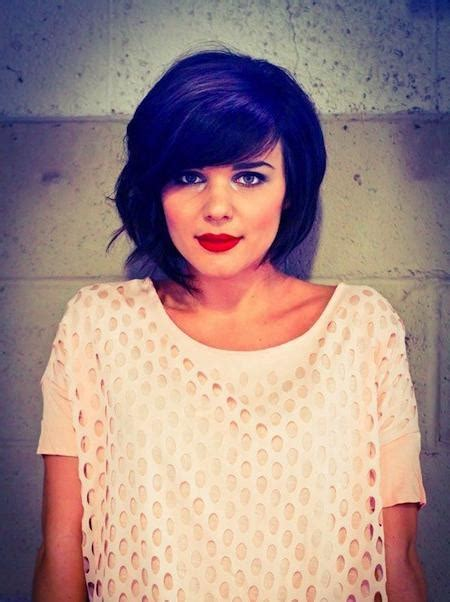 short haircuts big chin 20 best ideas of short hairstyles with big bangs