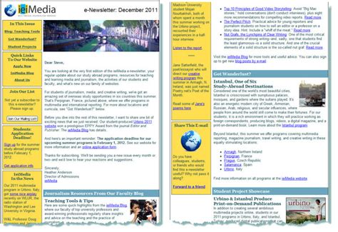 Newsletter Service Services Promotion Marketing West Gold Editorial Consulting