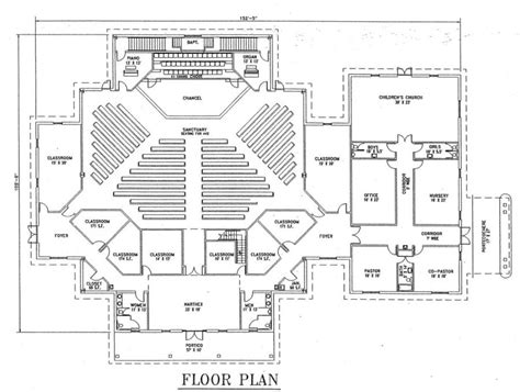 church floor plans free church plan 129 lth steel structures
