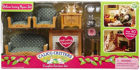 calico critters deluxe living room set deluxe living room set building blocks