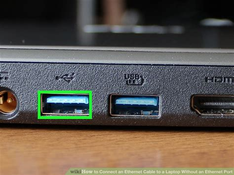 how to connect an ethernet cable to a laptop without an ethernet port
