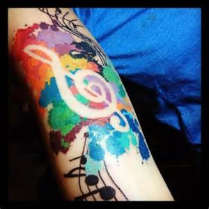 Galerry colored music tattoos