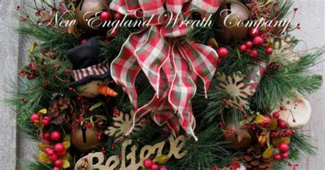 country christmas jingle bell wreath by newenglandwreath