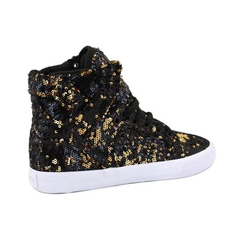 supra shoes womens c supra wmns skytop sw18013 womens laced sequin textile