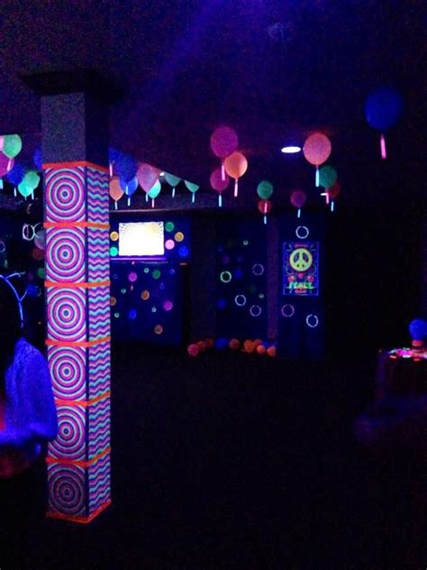 black light themes neon party with black lights sweet sixteen party ideas