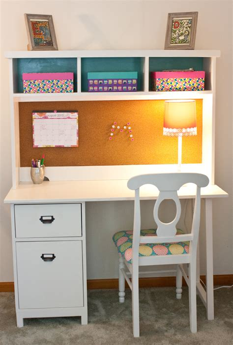 white back to school desk diy projects
