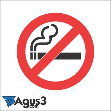 logo dilarang merokok vektor format cdr agus