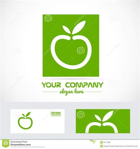 apple logo biography green apple organic logo stock vector image 55177885