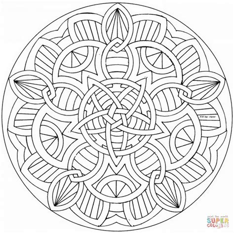 shamrock mandala coloring pages celtic mandalas to color www pixshark com images