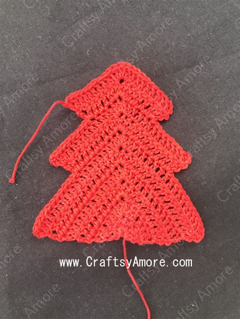 christmas tree pattern in c crochet christmas tree ornament free pattern tutorial