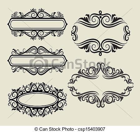decorations drawings clipart vecteur de cadre ornement d 233 corations cinq