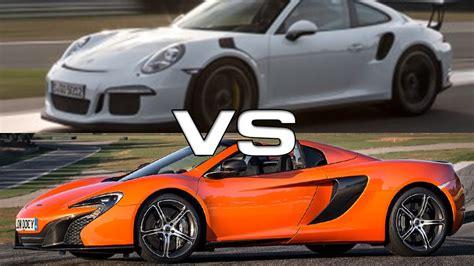 porsche spyder 911 2015 mclaren 650s spyder vs 2016 porsche 911 gt3 rs