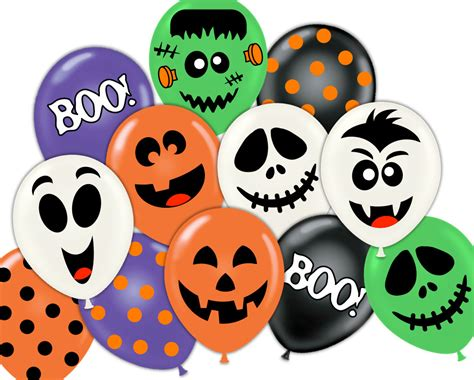 printable halloween decorations pdf halloween party pdf printable balloon face sticker decorations