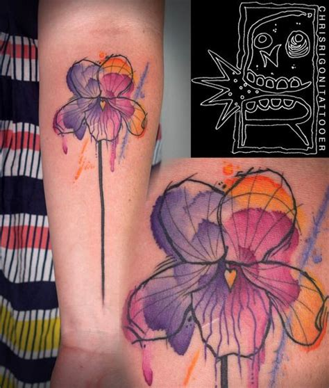 watercolor tattoos oregon best 25 colorful flower ideas on color