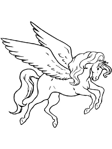 Pegasus Coloring Pages To Download And Print For Free Pegasus Coloring Page