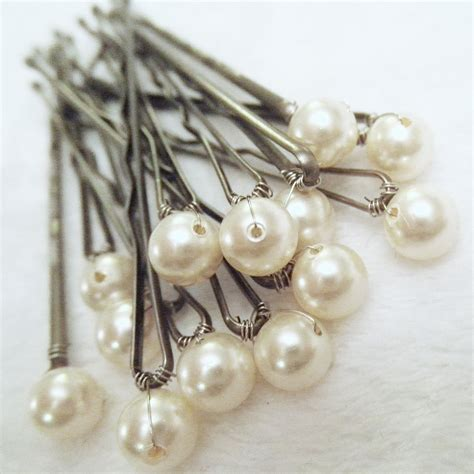 pins ivory set 12 bridal bobby pins also in