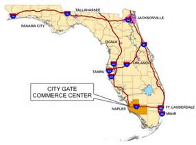 florida ports map city gate commerce center commerical land ready for