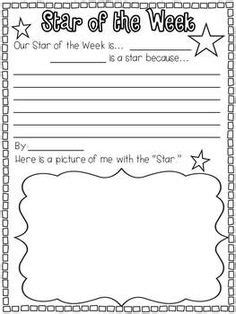 printable star of the week form instant display teaching resources otherposters
