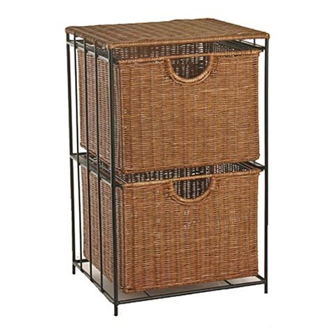 Wicker Cabinet by Two Drawer Rolling Wicker File Tower In File Cabinets