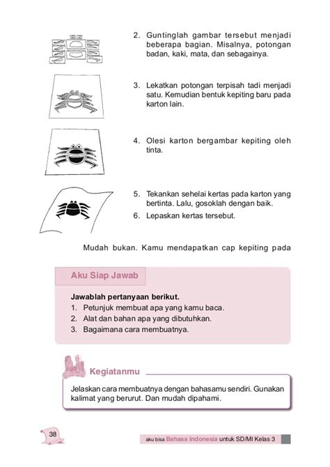 membuat teks prosedur cara melakukan sesuatu bahasa indonesia kelas 3 sd