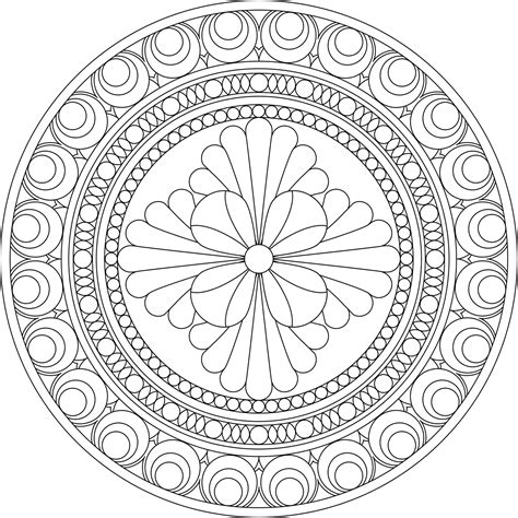 Mandala Coloring Page buddhist mandala coloring pages